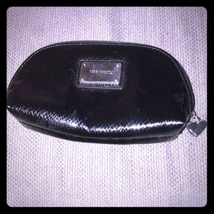 Nine West Black Snakeskin Make up Bag